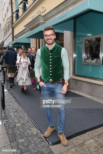 Justus Hansen, Blogger, influencer, during the 'Fruehstueck bei Tiffany' at Tiffany Store ahead of the Oktoberfest on September 16, 2017 in Munich,...
