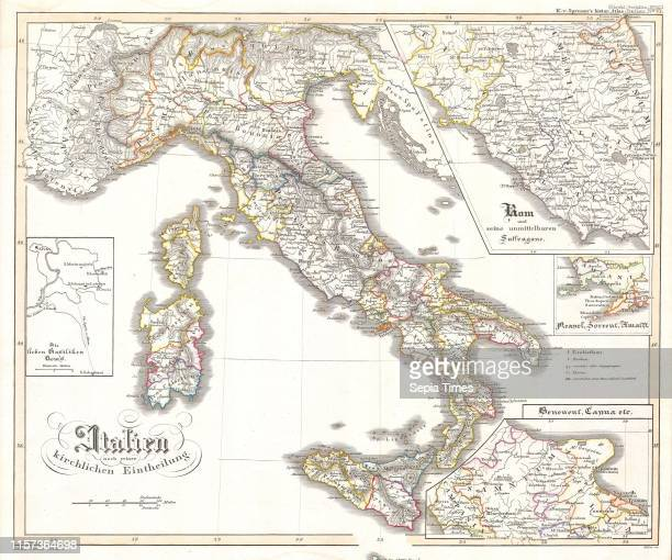 1850 Justus Perthes Map of Italy