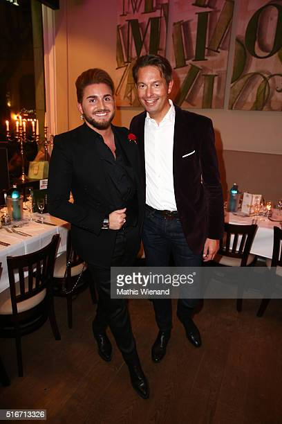 Justus Toussis and Dirk Lichtherz attend Justus Toussis Birthday Party at Mio3 on March 19 2016 in Wuppertal Germany
