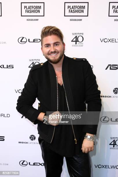 Justus Toussis attends the 3D Fashion Presented By Lexus/Voxelworld show during Platform Fashion July 2017 at Areal Boehler on July 22, 2017 in...