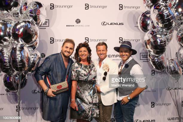 Justus Toussis Babette Albrecht Sandro Rath and guest attend the Breuninger show during Platform Fashion July 2018 at Areal Boehler on July 20 2018...