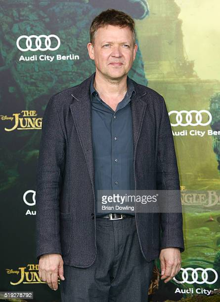 Justus von Dohnany arrives at Disney's 'The Jungle Book' premiere at the Zoo Palast on April 5 2016 in Berlin Germany