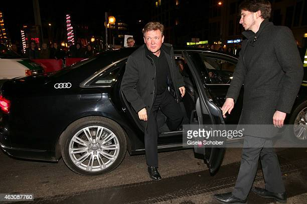 Justus von Dohnanyi arrives for the 'Woman in Gold' premiere during the 65th Berlinale International Film Festival at Friedrichstadtpalast on...