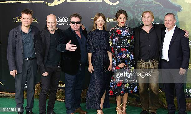 Justus von Dohnanyi Christian Berkel Armin Rhode Heike Makatsch Jessica Schwarz Ben Becker Joachim Krol arrive at Disney's 'The Jungle Book' premiere...