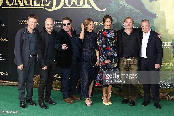 Justus von Dohnanyi Christian Berkel Armin Rhode Heike Makatsch Jessica Schwarz Ben Becker Joachim Krol arrives at Disney's 'The Jungle Book'...