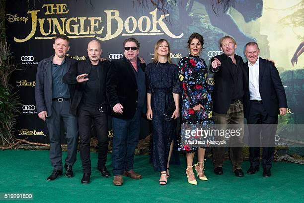 Justus von Dohnanyi Christian Berkel Armin Rohde Heike Makatsch Jessica Schwarz Ben Becker and Joachim Krol attend the 'The Jungle book' German...