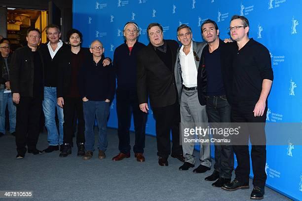 Justus von Dohnanyi Hugh Bonneville Dimitri Leonidas Bill MurrayJohn Goodman George Clooney Jean Dujardin and Matt Damon attend 'The Monuments Men'...