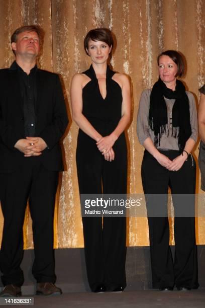 Justus von Dohnanyi Julia Koschitz and Crew attend the 'Ruhm' Germany Film Premiere at 'Residenz eine astor Film Lounge' on March 20 2012 in Cologne...