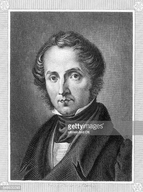 Justus von Liebig18031873natural scientist chemist germanyportrait engraving by Barth about 1850