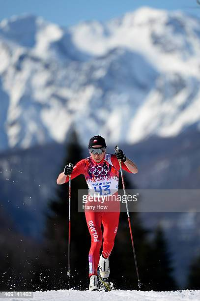 Justyna Kowalczyk of Poland competes in the Women's 10 km Classic during day six of the Sochi 2014 Winter Olympics at Laura Crosscountry Ski Biathlon...