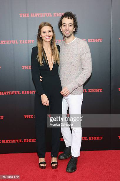 Justyna Sroka and Albert Hammond Jr attend the The New York Premiere Of The Hateful Eight on December 14 2015 in New York City
