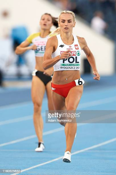 Justyna Swiety-Ersetic from Poland competes in womens 400 meters while European Athletics Team Championships Super League Bydgoszcz 2019 - Day One at...