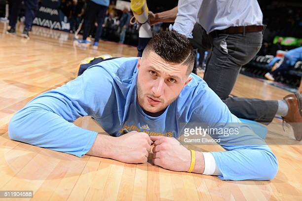 Jusuf Nurkic of the Denver Nuggets before the game against the Sacramento Kings on February 23 2016 at the Pepsi Center in Denver Colorado NOTE TO...