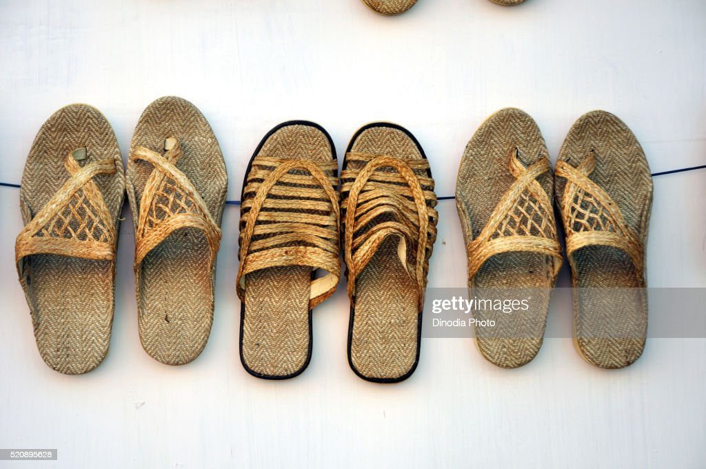 Jute Craft Of Slipper At Bengal India Stock Photo Getty Images