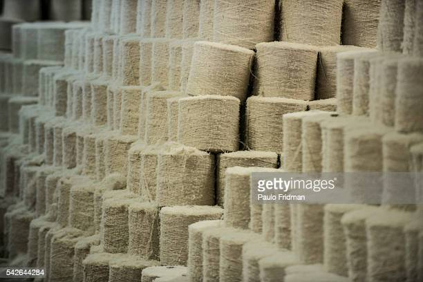 Jute rolls sit at Brasjuta factory in Manaus Brazil on Friday June 28