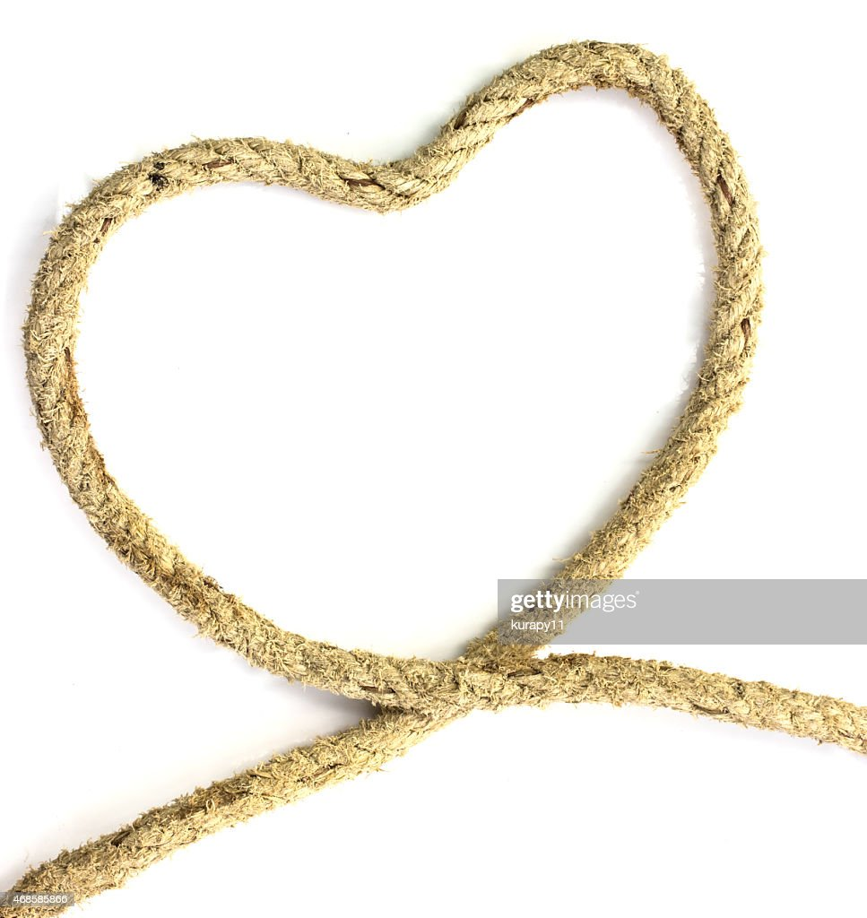 Jute Rope On White Background Stock Photo - Getty Images