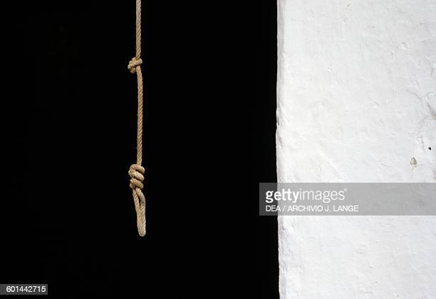 Jute rope with noose Preveli Crete Greece