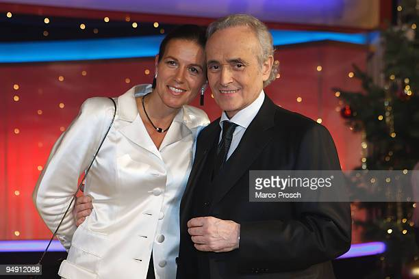 Jutta Carreras and tenor Jose Carreras attend the Jose Carreras Gala Show at the Neue Messe on December 17 2009 in Leipzig Germany