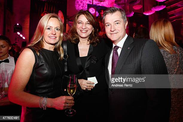 Jutta Englisch-Cirener , Sabine Hofmann and Andreas Sistig attend the Glammy Award by Glamour Magazine on March 6, 2014 in Munich, Germany.