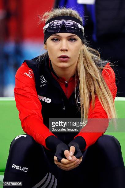 Jutta Leerdam during the 500m during the KPN NK Afstanden at the Thialf Stadium on December 29 2018 in Heerenveen Netherlands