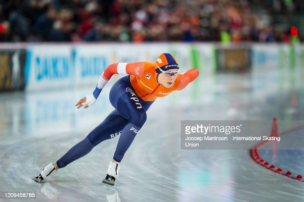 Jutta Leerdam of Netherlands competes in the 2nd Ladies 1000m Sprint during the Combined ISU World Sprint World Allround Speed Skating Championships...