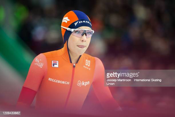 Jutta Leerdam of Netherlands competes in the 2nd Ladies 500m Sprint during the Combined ISU World Sprint World Allround Speed Skating Championships...