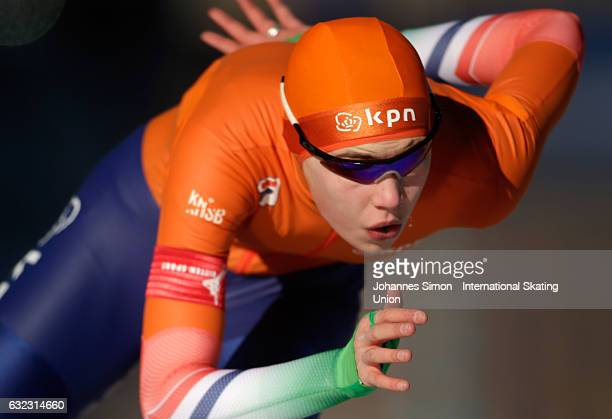 Jutta Leerdam of the Netherlands competes in the first women's junior 1000m draw for the ISU junior world cup speed skating championships on January...