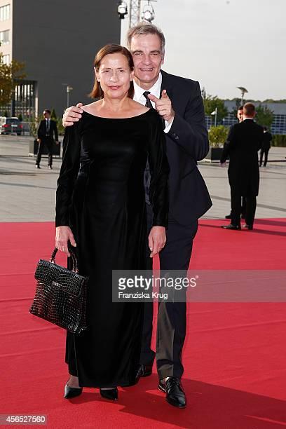 Jutta Schafmeister and Heinrich Schafmeister attend the red carpet of the Deutscher Fernsehpreis 2014 on October 02, 2014 in Cologne, Germany.
