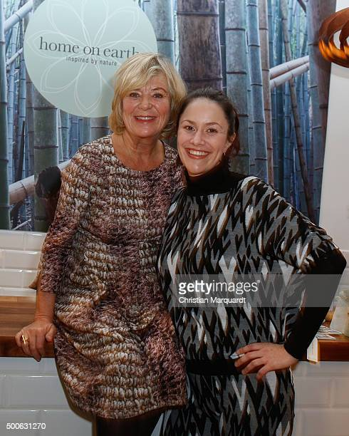 Jutta Speidel and Antonia Feuerstein attend the 'Home On Earth' Shop Opening on December 9 2015 in Berlin Germany