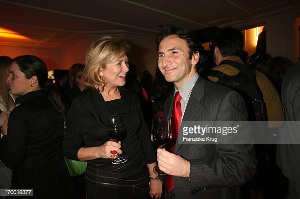"Jutta Speidel and friend Bruno Maccallini at The Premiere Of Rtl two-parter ""The Flood"" Curio-Haus in Hamburg."