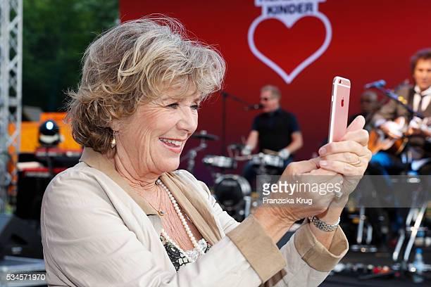 Jutta Speidel during the 'Ein Herz fuer Kinder' summer party at Wannseeterrassen on May 26, 2016 in Berlin, Germany.