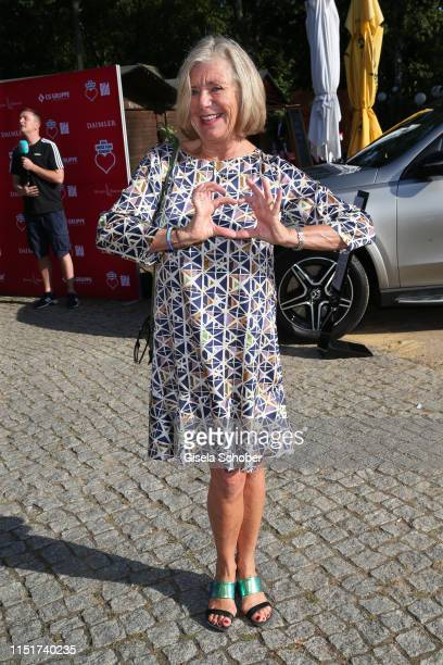 """Jutta Speidel during the """"Ein Herz fuer Kinder"""" summer party on June 24, 2019 at Wannseeterrassen in Berlin, Germany."""