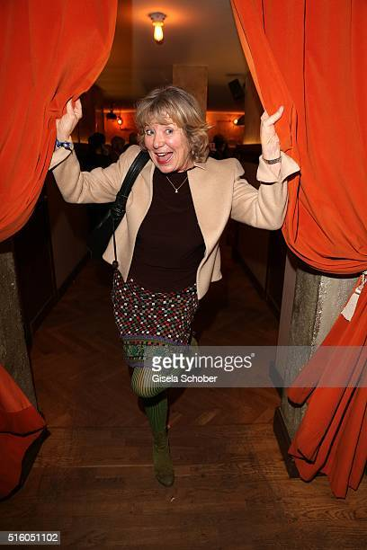 Jutta Speidel during the NdF after work press cocktail 2016 at Park Cafe on March 16 2016 in Munich Germany
