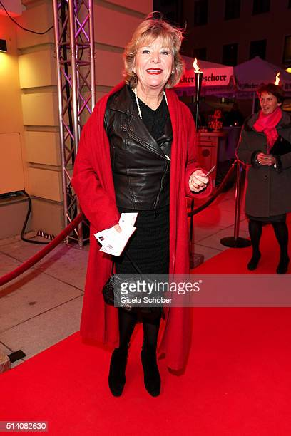 Jutta Speidel during the premiere of the musical 'Chicago' at Deutsches Theatre on March 6 2016 in Munich Germany