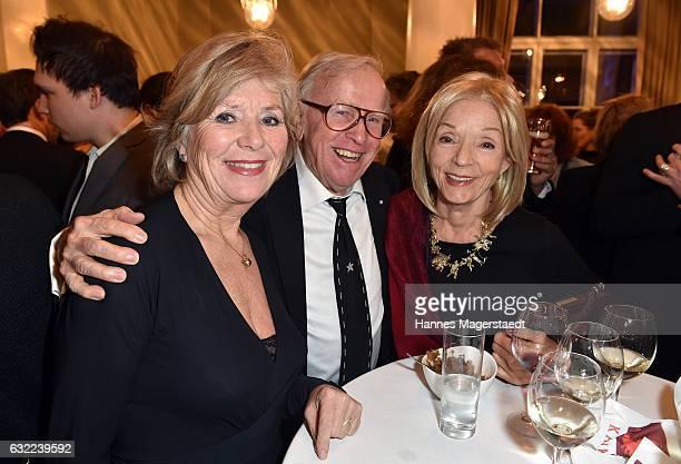 Jutta Speidel, Klaus Doldinger and Inge Doldinger attend the Bayerischer Filmpreis 2017 at Prinzregententheater on January 20, 2017 in Munich,...