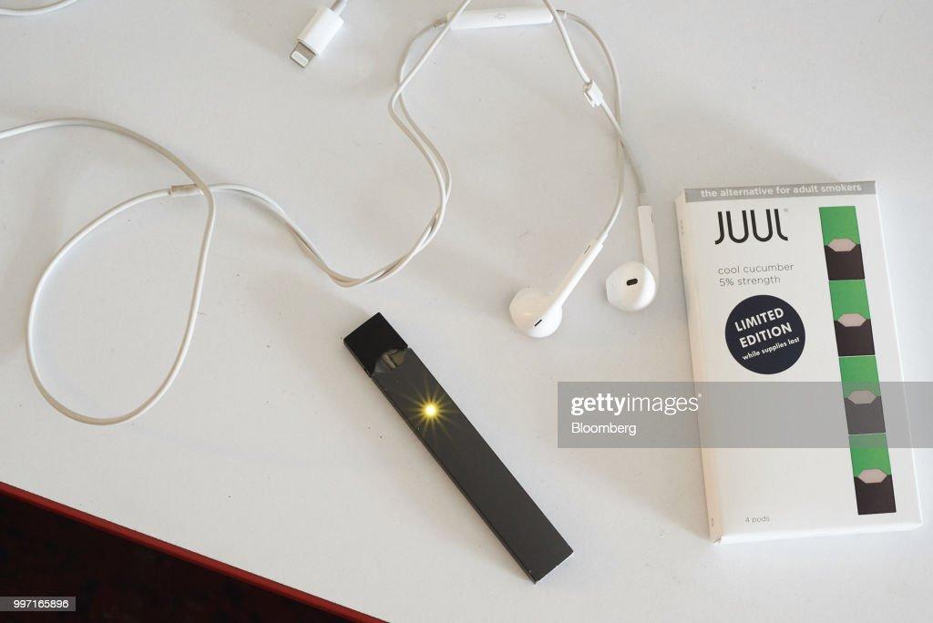 E-Cigarette Maker Juul Will Offer Lower-Strength Nicotine Pods : News Photo