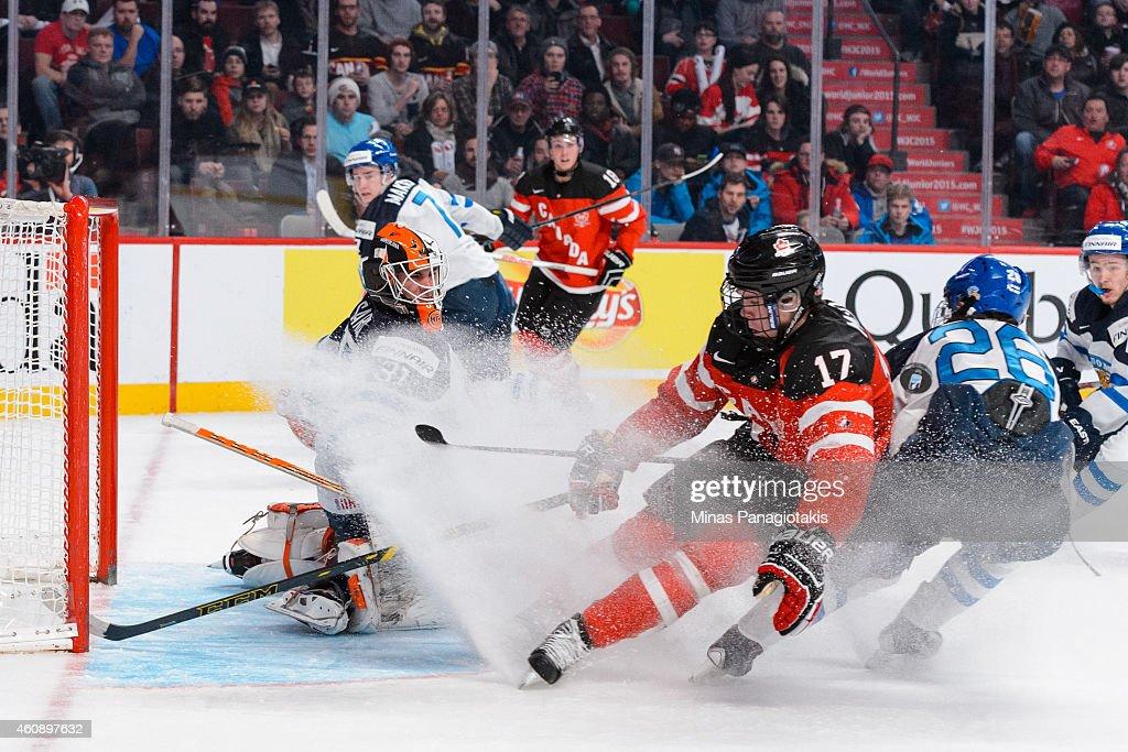 Canada v Finland - 2015 IIHF World Junior Championship : News Photo