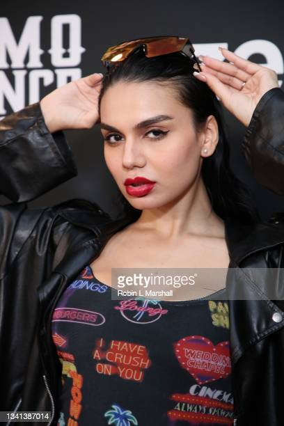 """Juvahn attends Zeus Network's """"One Mo Chance"""" Season 2 Premiere at AMC Universal at City Walk on September 19, 2021 in Universal City, California."""