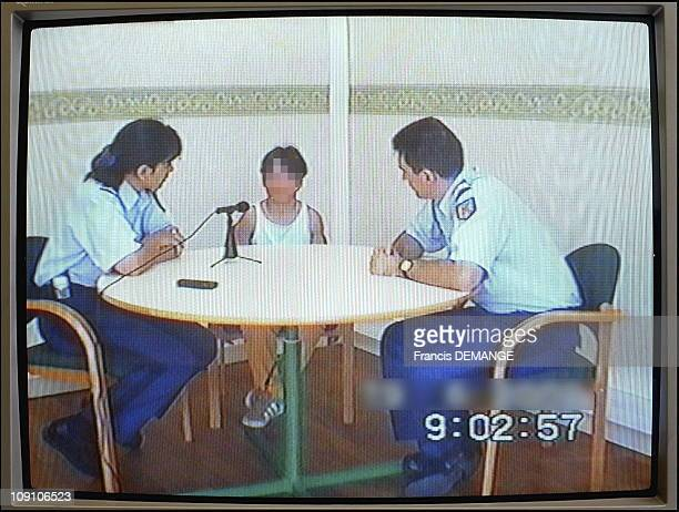 Juvenile Delinquency Prevention Brigade On June 19Th 2002 In Lyon France On A Video Monitor The Recording Of The Testimony Of A Young Girl Who Was...