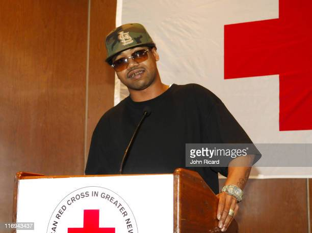 Juvenile during BET National Urban League and American Red Cross Announce Hurricane Katrina Benefit Telethon at American Red Cross in New York New...