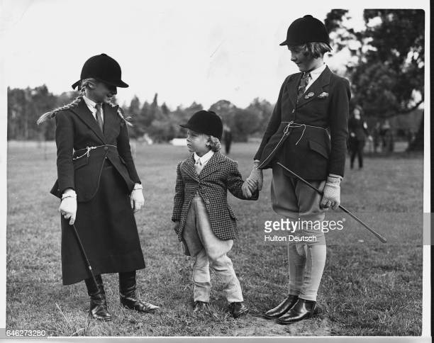 Juvenile Riding Fashions AW/RS This contrast in juvenile riding fashions comes from a gymkhana and horse show held at Chobham Village near Woking...