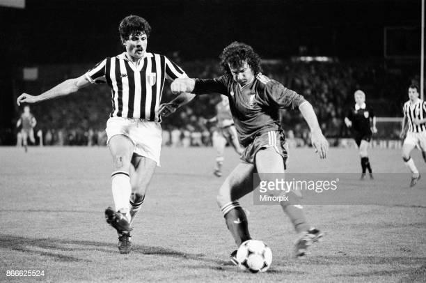 Juventus 10 Liverpool FC 1985 European Cup Final Heysel Stadium Brussels Belgium Wednesday 29th May 1985 match action Craig Johnston of Liverpool...
