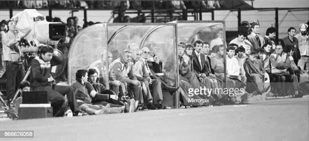 Juventus 10 Liverpool FC 1985 European Cup Final Heysel Stadium Brussels Belgium Wednesday 29th May 1985 match action Joe Fagan Liverpool manager...