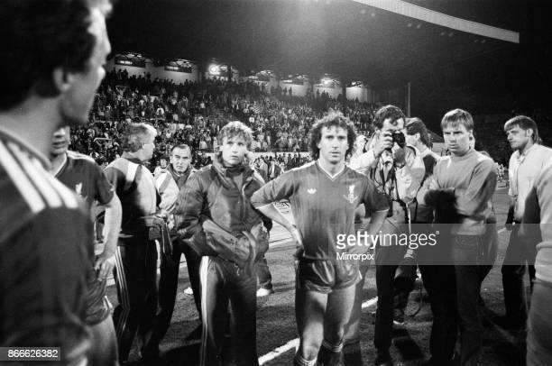 Juventus 10 Liverpool FC 1985 European Cup Final Heysel Stadium Brussels Belgium Wednesday 29th May 1985 match action Liverpool player Craig Johnston...