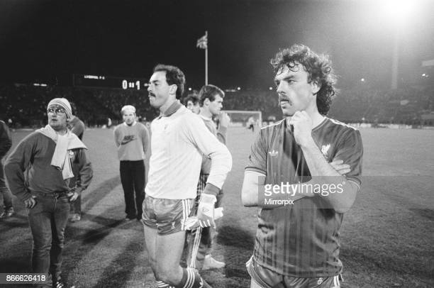 Juventus 10 Liverpool FC 1985 European Cup Final Heysel Stadium Brussels Belgium Wednesday 29th May 1985 match action Liverpool Players Goalkeeper...