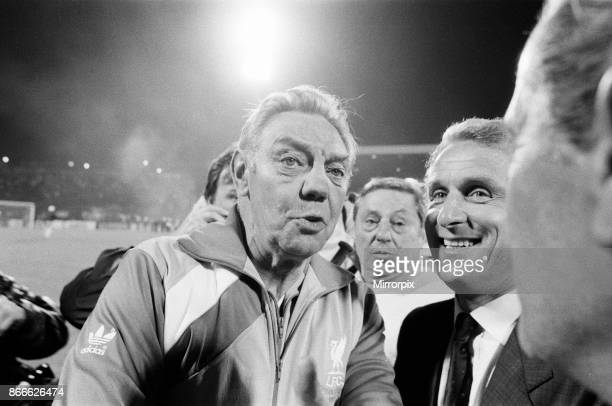 Juventus 1-0 Liverpool FC, 1985 European Cup Final, Heysel Stadium, Brussels, Belgium, Wednesday 29th May 1985, match action: Managers for Liverpool,...
