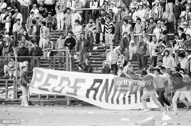 Juventus 10 Liverpool FC 1985 European Cup Final Heysel Stadium Brussels Wednesday 29th May 1985 Crowd Violence Reds Animals