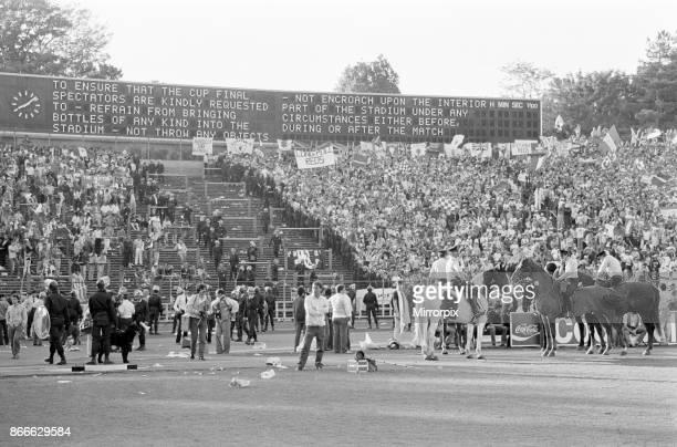 Juventus 10 Liverpool FC 1985 European Cup Final Heysel Stadium Brussels Wednesday 29th May 1985 Crowd Violence Scoreboard