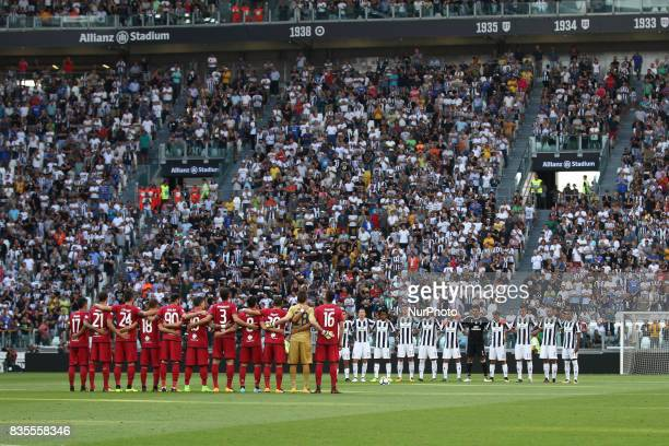 Juventus and Cagliari Team before the Serie A football match n1 JUVENTUS CAGLIARI on at the Allianz Stadium in Turin Italy
