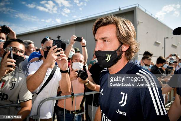 Juventus coach Andrea Pirlo at JMedical on August 24, 2020 in Turin, Italy.